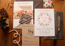 Rustic Floral Wedding Invitations by Paper Street Press | http://emmalinebride.com/rustic/rustic-floral-wedding-invitations/
