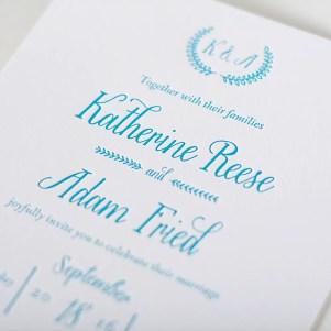 rustic letterpress invitation