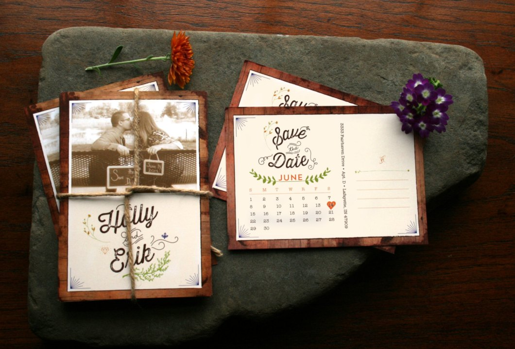 rustic-save-the-date-with-woodsy-feel