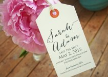 save the date luggage tag