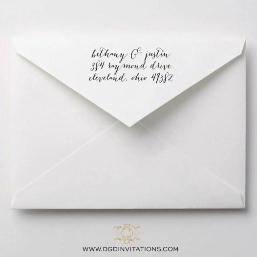 script return address stamp