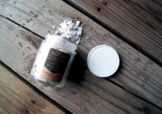 sea buckthorn salt scrub