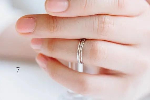 skinny stacking rings