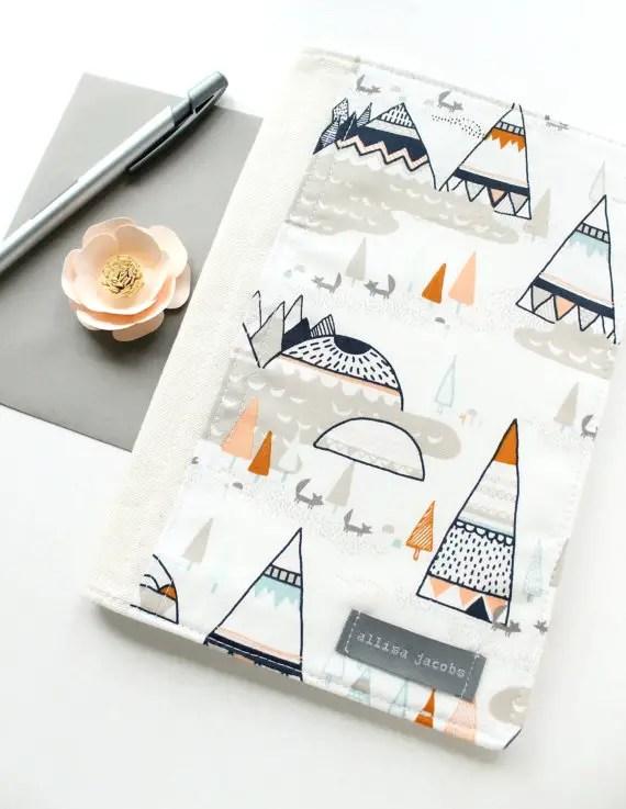 southwestern porfolio organizer design via newly engaged gift idea at EmmalineBride.com