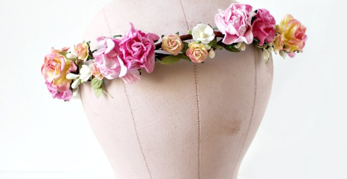 pink - spring wedding crowns | via http://emmalinebride.com/bride/spring-wedding-crowns/