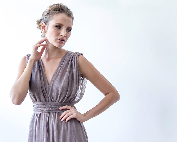 Taupe Bridesmaid Maxi Dress | via Bridesmaid Maxi Dresses http://emmalinebride.com/bridesmaids/bridesmaid-maxi-dresses/