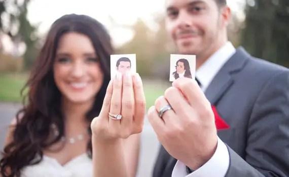 Wedding tattoos made to look like the couple!