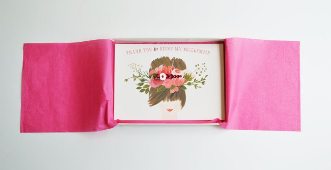 thank you for being my bridesmaid gift box