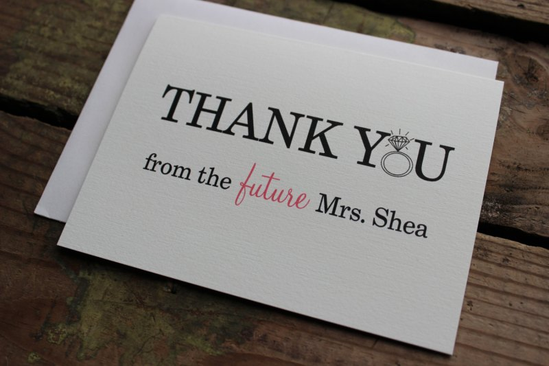 Thank You from Future Mrs Cards by Ponto Mountain Paper