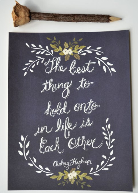 audrey hepburn | #wedding Wedding Poster Ideas for (Easy!) Decor