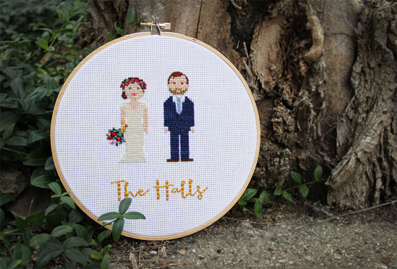 custom emboidery hoop   via bride and groom chair signs http://emmalinebride.com/decor/bride-and-groom-chairs/
