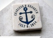 tile magnet wedding favors