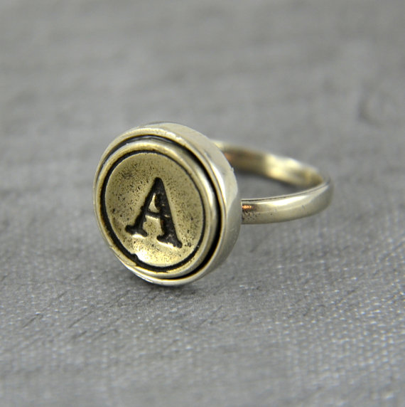 typewriter key ring