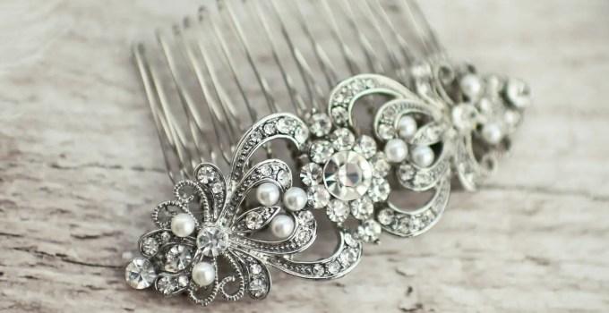vintage bridal hair comb 1