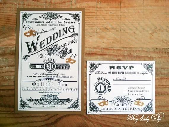 vintage halloween invitations
