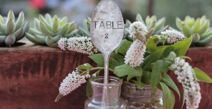 vintage spoon table number idea