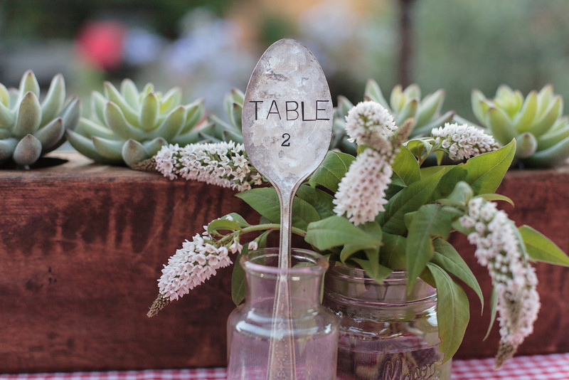 vintage spoon table number idea