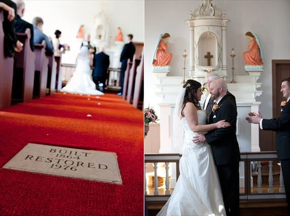 Vintage Fall Wedding - bride and groom