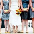 wedding clutch purses yellow and grey