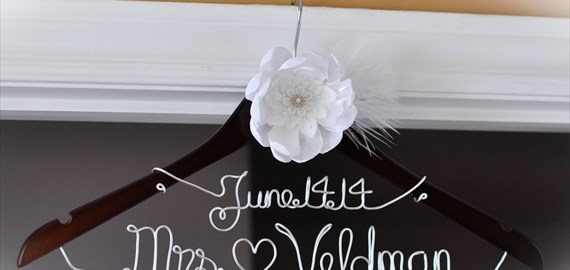 wedding dress hanger mrs
