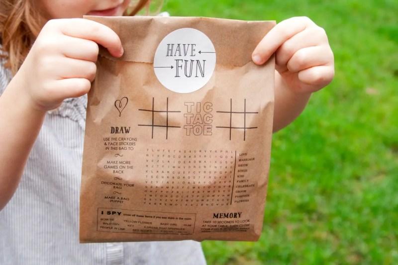 wedding favor bags for kids
