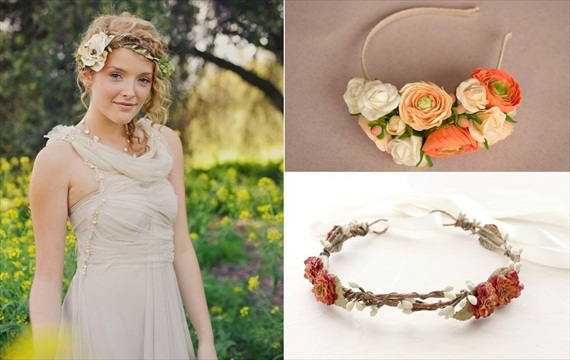 Wedding Halo Headbands & Crowns (left - shanionie, top right - gentle decisions, bottom right - roses and lemons)
