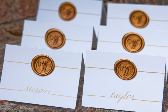 wedding place cards wax seal - paper goods wedding