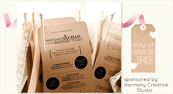 What to Include in a Wedding Program + Wedding Program Giveaway (program by Harmony Creative Studio)