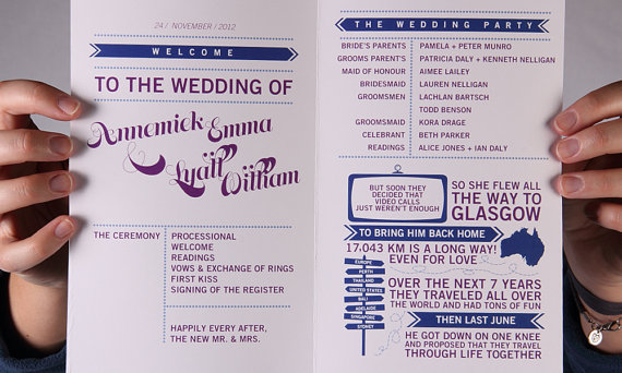 How to Welcome Guests to a Wedding - ceremony programs by sparkvites - 2