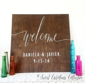 welcome wedding sign
