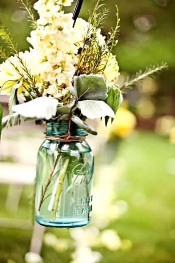wire hanging mason jar vases