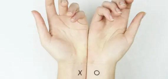 x o temporary wedding tattoos