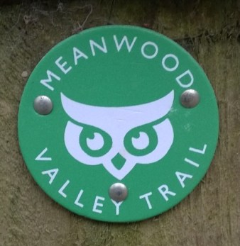 Meanwood Valley Trail sign at Golden Acre Park