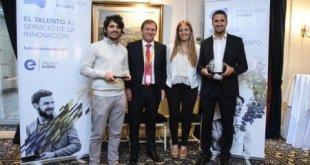 De izq. a der. Sergio Román Nasich (Arwind Energy), Marcelo Weinbinder CEO de everis en Argentina, Carolina Inda y Felipe Jaworski (Bioinnova)