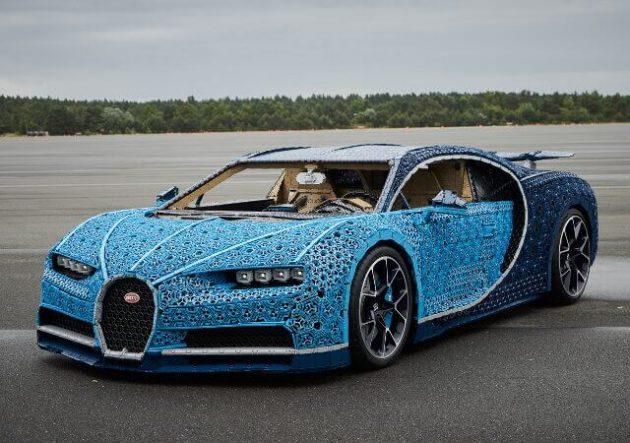 LEGO Bugatti Chiron, una joya de tamaño real que se puede conducir a 20 Km/h