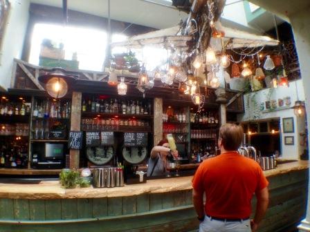 The bar at The Botanist