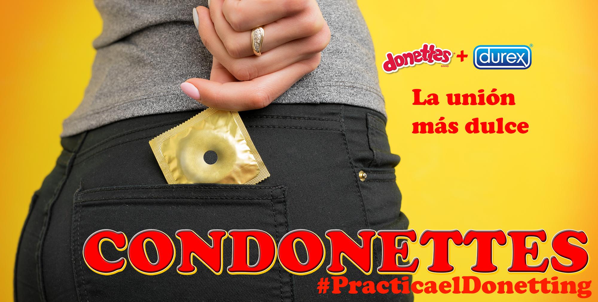 Durex presenta los Condonettes sabor chocolate y con agujero en medio