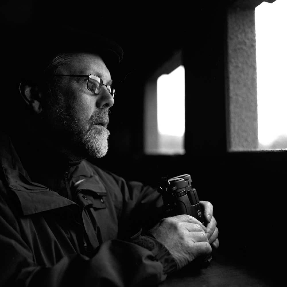 Mr. Paul Huntington: Bronica SQAi, 80mm, f4 at 1/30s on Ilford FP4