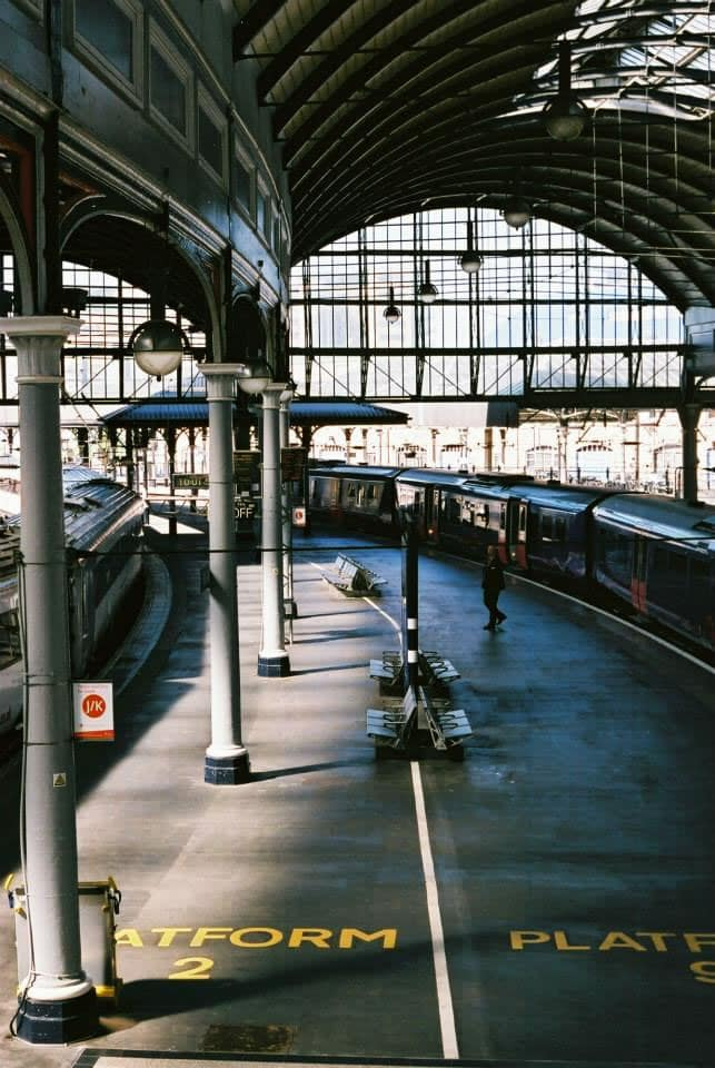 """North/South Platform"" Newcastle Station, Newcastle, June 2015 - Fuji Superia 400 / Canon EOS3 / Canon 50mm f/1.8"
