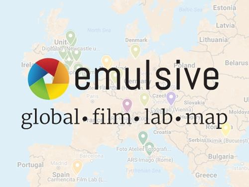 The EMULSIVE Global Film Lab Map