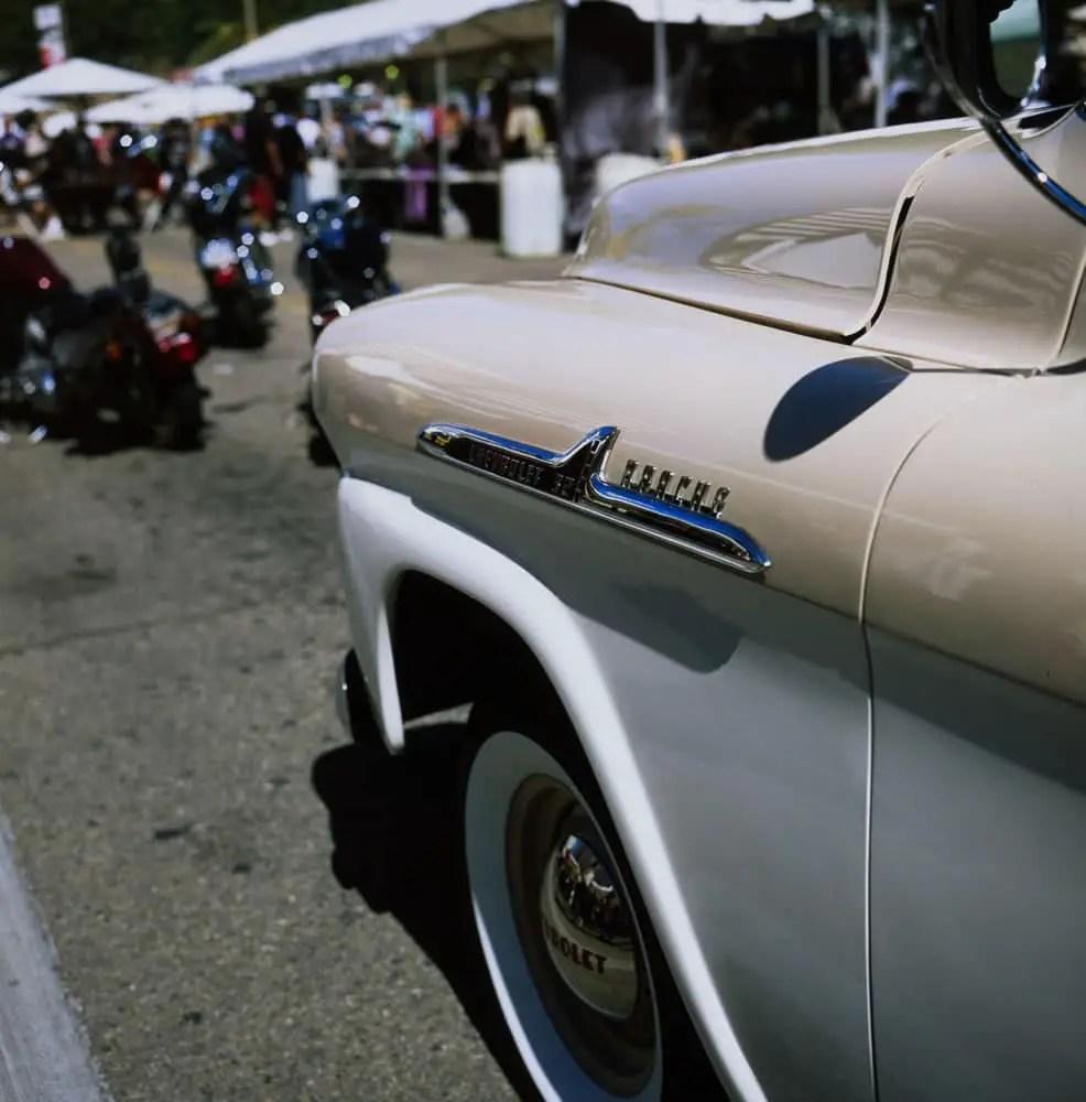 Shiny Chevrolet, Rolleiflex 3.5F, Fuji Velvia 100