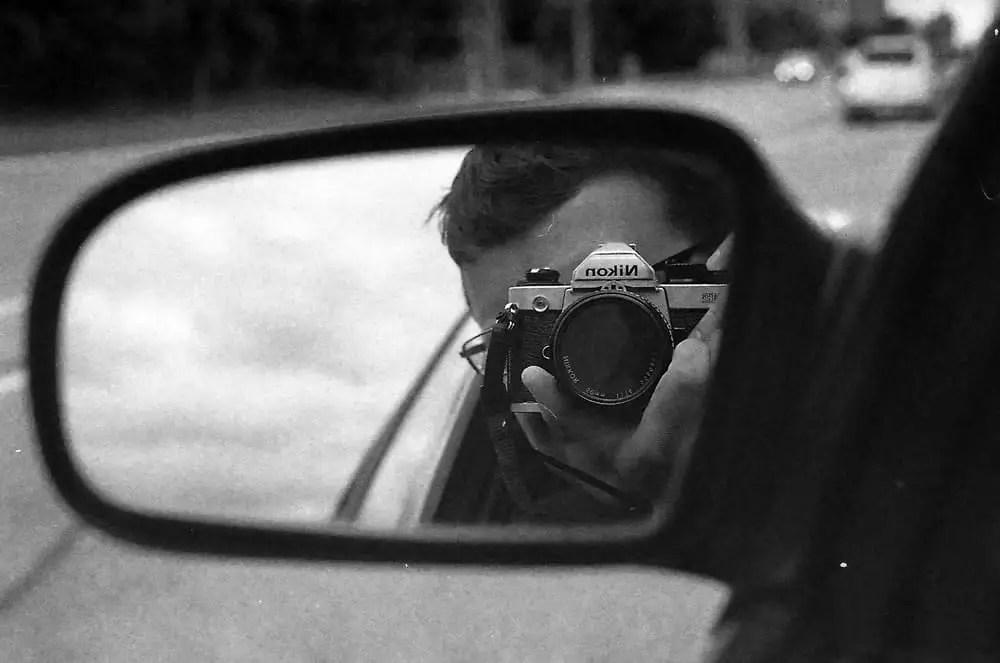 Sometimes you just have to blow the last frame on a selfie - Nikon FM2 - AI-S Nikkor 50mm 1:1.4 - Kodak Tri-X 400 - Kodak HC-110 (B) (For the Self-Portrait)