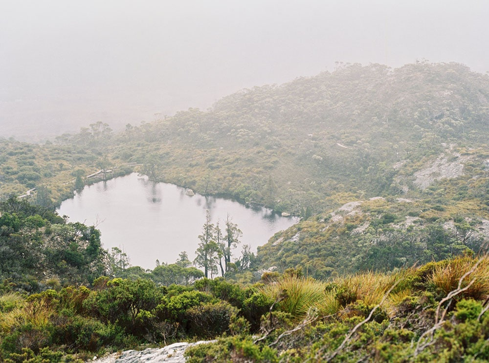 Tasmania Travelogue - A misty early-April view in Cradle Mountain National Park.