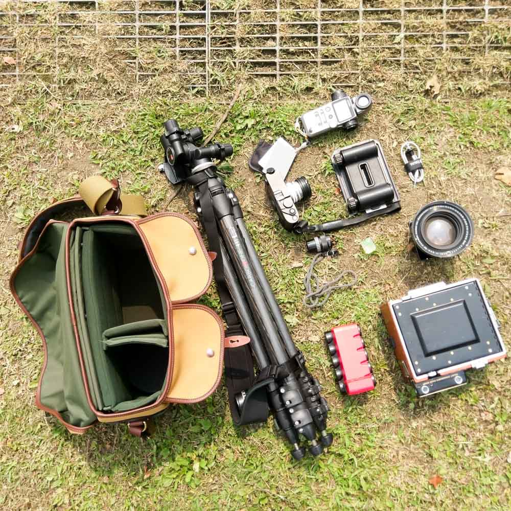 Billingham Hadley One - Speed Graphic plus Leica (exploded)
