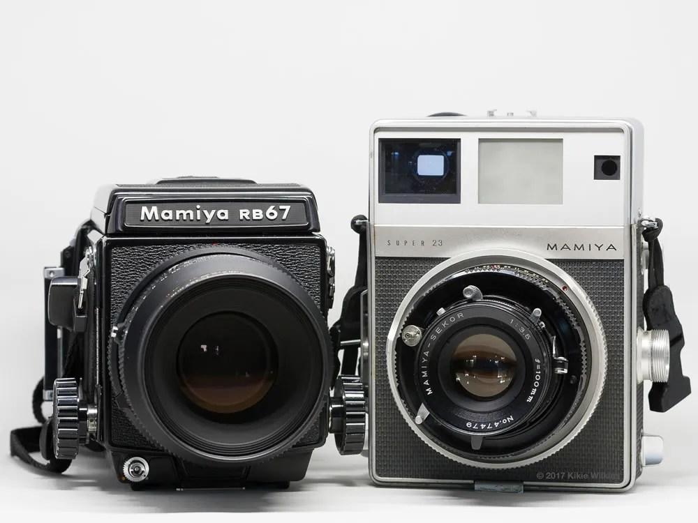 Front view of Mamiya RB67 and Super 23