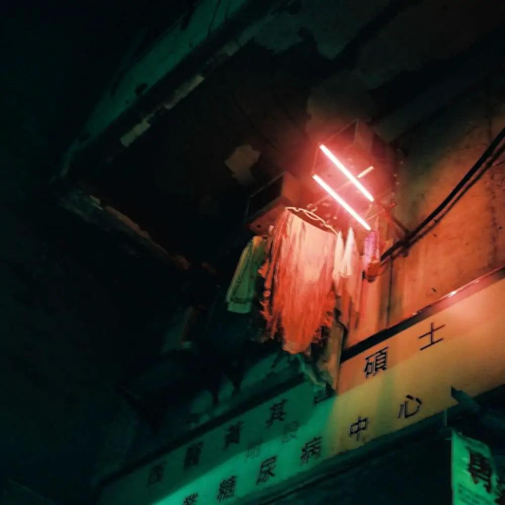 Prince Edward, night neon - Fuji GS645W, Kodak Portra 800 at box speed