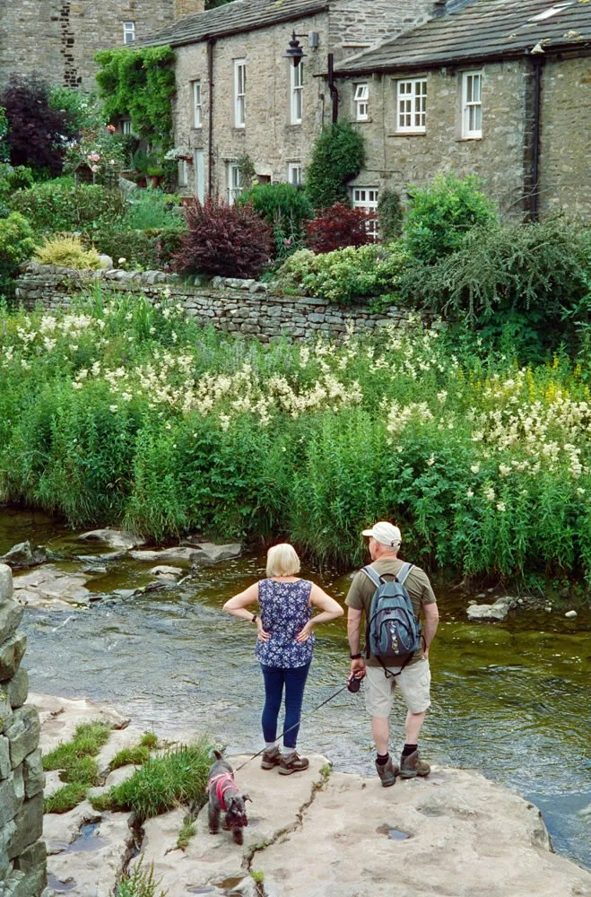 Couple by stream