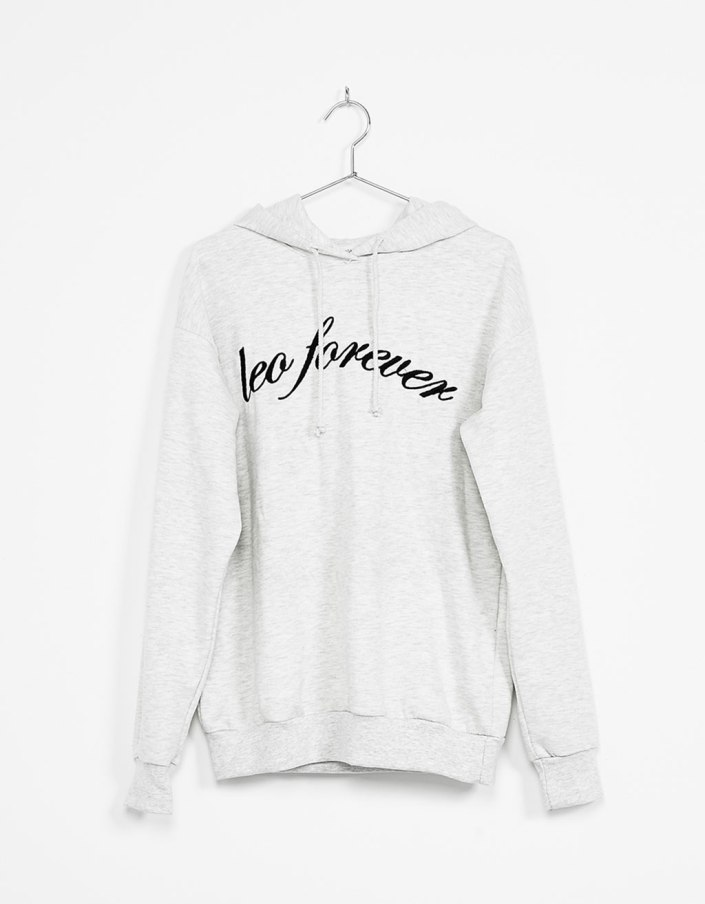 Hood printed sweat Bershka