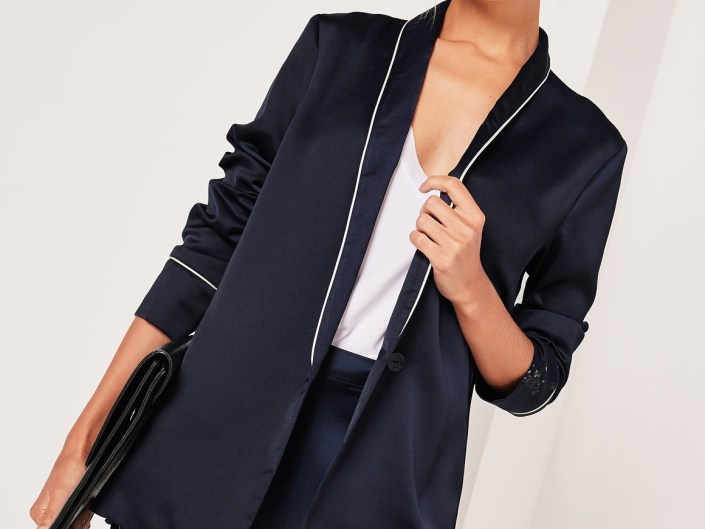 Satin Blazer MissGuided