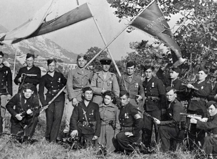 Montenegrin partisans during World War II